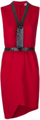 Lanvin short beaded front dress