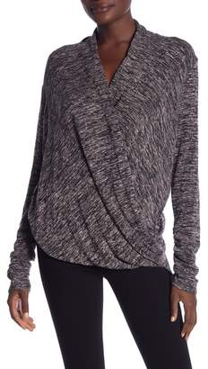 Max Studio Mock Wrap Long Sleeve Sweater