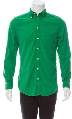 Dolce & Gabbana Brad Corduroy Button-Up Shirt