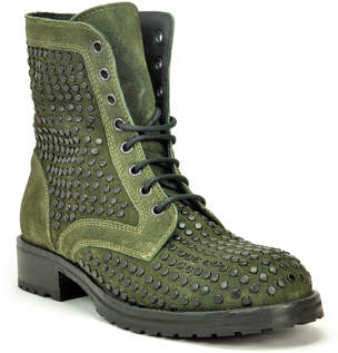 275 Central - 1515 - Studded Suede Lug Sole Ankle Boot