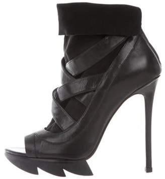 Camilla Skovgaard Open-Toe Multistrap Boots Black Open-Toe Multistrap Boots