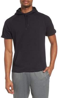 Zella Magnetite Short Sleeve Cotton Blend Hoodie