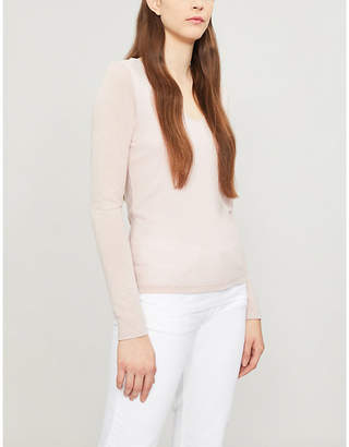 The White Company Knitted-jersey V-neck top