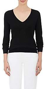 Barneys New York Women's Silk-Cashmere V-Neck Sweater - Black