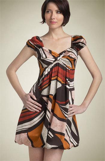 ABS by Allen Schwartz 'Tribal Print' Puff Sleeve Dress