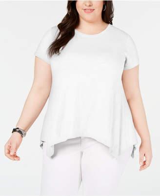 Style&Co. Style & Co Plus Size Cotton Handkerchief-Hem Knit Top