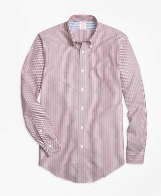 Brooks Brothers Non-Iron Madison Fit Stripe Sport Shirt