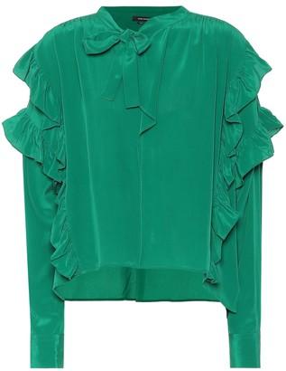 b396c334 Emerald Green Silk Blouse - ShopStyle UK