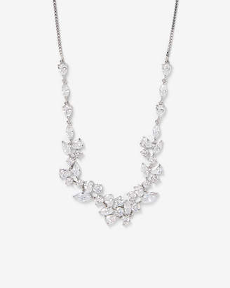 Express Cubic Zirconia Mixed Station Pull-Slide Necklace