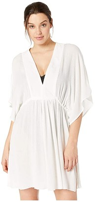 Lauren Ralph Lauren Crinkle Rayon Cover-Up Tunic Dress