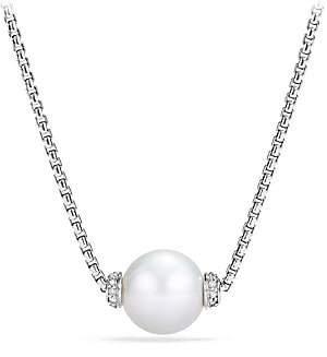David Yurman Women's Solari Pearl & Diamond Pendant Necklace