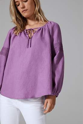 Country Road Lace Trim Blouse