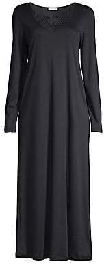 Hanro Women's Adina Lace Trim Gown