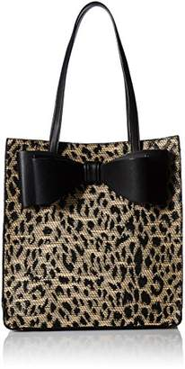 Betsey Johnson Mighty Jungle Print Bow Tote