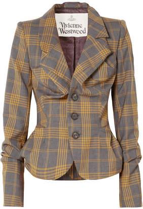 Vivienne Westwood Tartan Wool Blazer - Gray