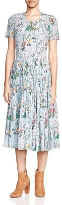 The Kooples Folkloric Print Silk Dress $425 thestylecure.com
