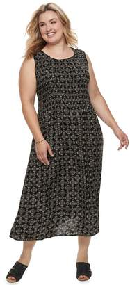 Croft & Barrow Plus Size Smocked Tank Dress