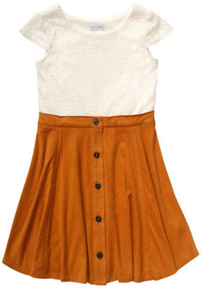 Bloome Girls 7-16 Colorblock Cap Sleeves Dress $60 thestylecure.com