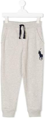 Ralph Lauren Kids Big Pony embroidered track pants