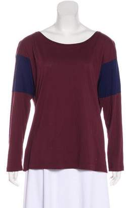 Dries Van Noten Long Sleeve Colorblock Top
