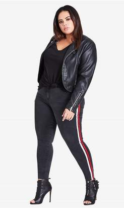 City Chic Citychic Racing Stripe Skinny Jean