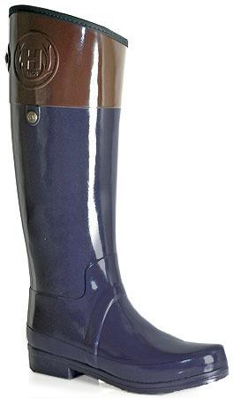 Hunter Sandhurst Carlyle - Navy Rubber Rain Boot