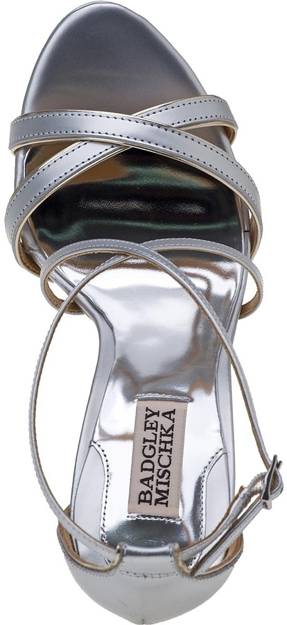 Badgley Mischka Fierce Evening Sandal Gold Leather