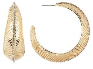 Jessica Simpson Feathered 50mm Hoop Earrings