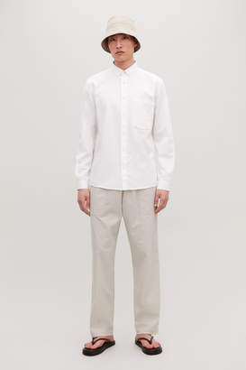 Cos BUTTON-DOWN COTTON-LINEN SHIRT