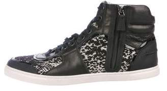 Lanvin Lace-Up High-Top Sneakers