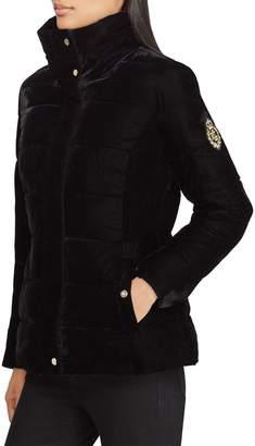 Lauren Ralph Lauren Velvet Puffer Jacket