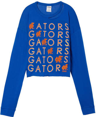 PINK University Of Florida Long Sleeve Campus Cutout Tee