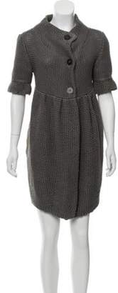Stella McCartney Knit Knee-Length Dress Grey Knit Knee-Length Dress