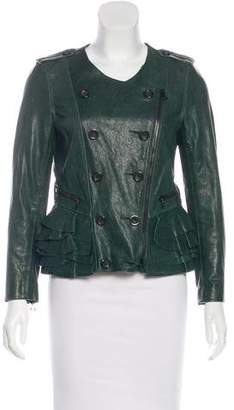 3.1 Phillip Lim Collarless Leather Jacket