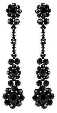 Simone Rocha Crystal flower drop earrings