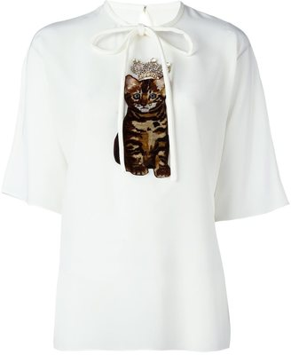 Dolce & Gabbana crowned kitten patch top $1,545 thestylecure.com