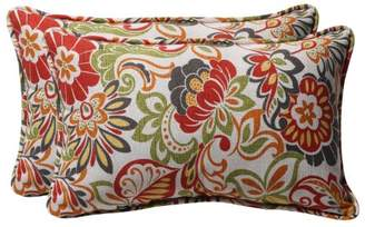 Pillow Perfect Decorative Multicolored Modern Floral Rectangle Toss Pillows