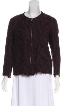 Etoile Isabel Marant Linen Wool Blend Zip-Up Jacket