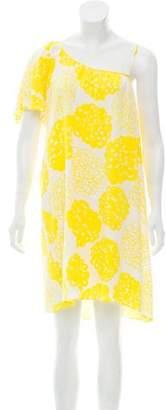 Loeffler Randall Silk One-Shoulder Dress