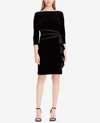 American Living Ruffled Velvet Dress