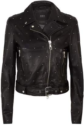SET Studded Leather Jacket