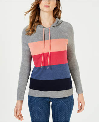 Charter Club Colorblocked Sweater Hoodie