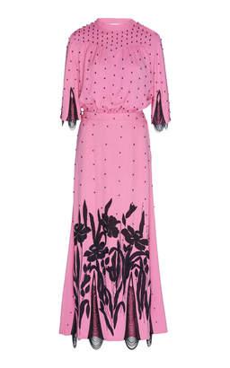 ATTICO Satin Embroidered Dress