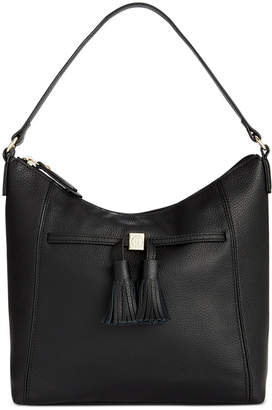 Giani Bernini Pebble Leather Tassel Hobo