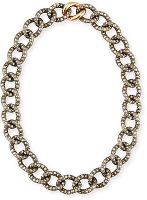 Pomellato Tango Brown & Black Diamond Link Necklace