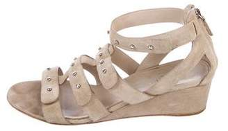 Gucci Suede Studded Wedges