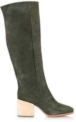 Rachel Comey Fisk brushed-leather wooden block-heel boots