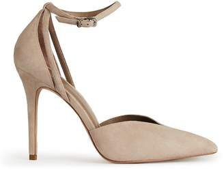 Reiss KATYA SUEDE ANKLE-STRAP SHOES Nude