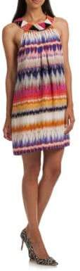 Trina Turk Trista Ikat Crepe Sleeveless Dress