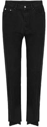 Vetements + Levi's Two-Tone High-Rise Straight-Leg Jeans